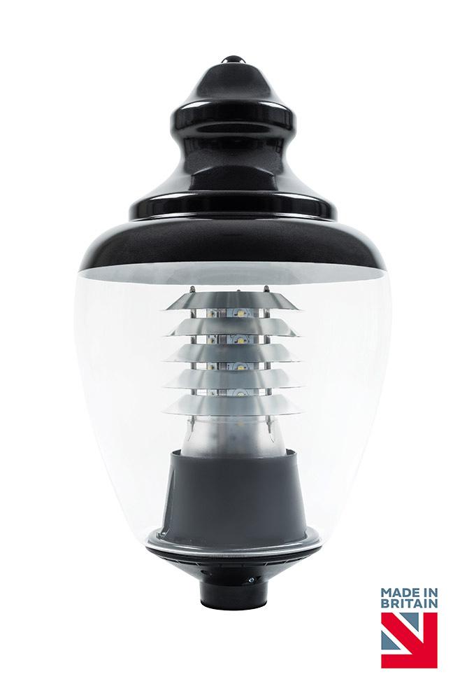led post top light buckingham 30w gemma lighting amenity. Black Bedroom Furniture Sets. Home Design Ideas