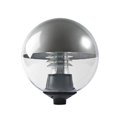 Led Prismatic Globe Post Top Light Warrior 30w Gemma Lighting Amenity