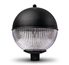 LED Globe Light Black Top Prismatic 76mm Spiogot 4000k or 6000K
