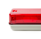 Red tough and robust rectangular IP65 / IK08 rated bulkhead luminaire