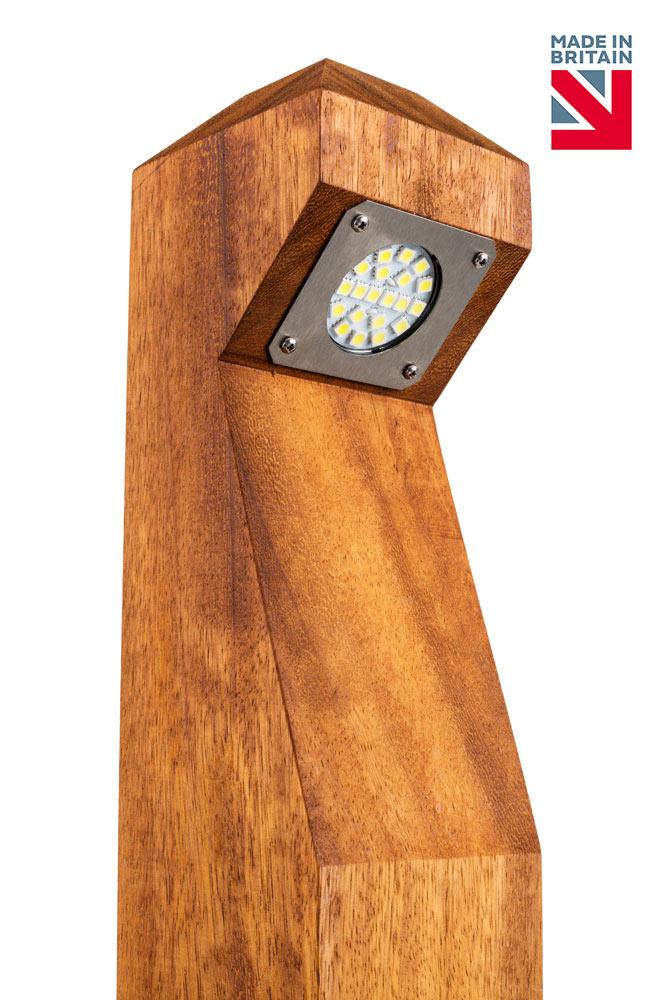 Led Wooden Bollard Neptune 5w Gemma Lighting Bollard