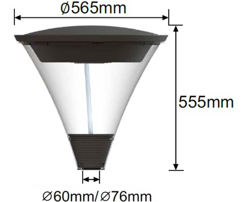Middleton LED Post Top Dimensions