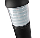 LED-Black-Dome-Bollard-Photocell-30W