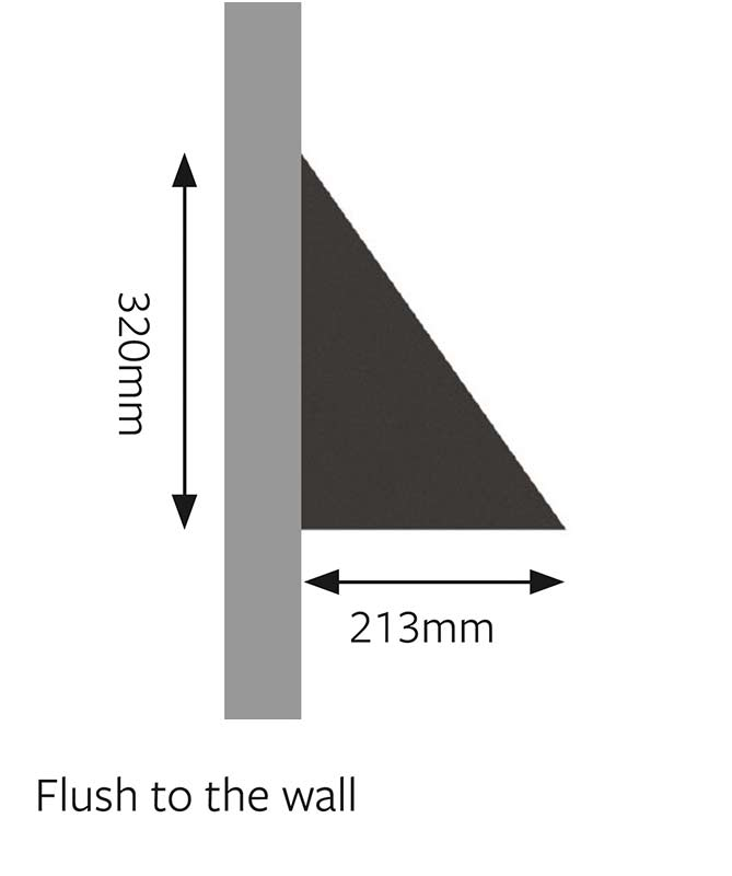 Mayfair LED Wall Mounted Light Dimensions Flush