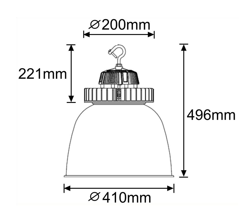 Illustrious 100 LED High Bay Light Dimensions