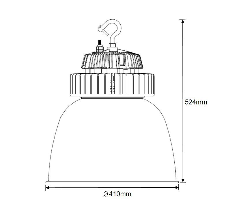 Illustrious 150 LED High Bay Light Dimensions