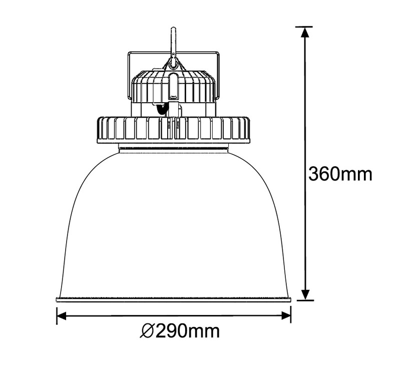 Illustrious 60 LED Low Bay Light Dimensions