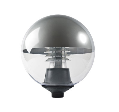 LED Globe Light Silver
