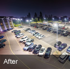 Radisson Blu Heathrow LED Car Park Lighting After