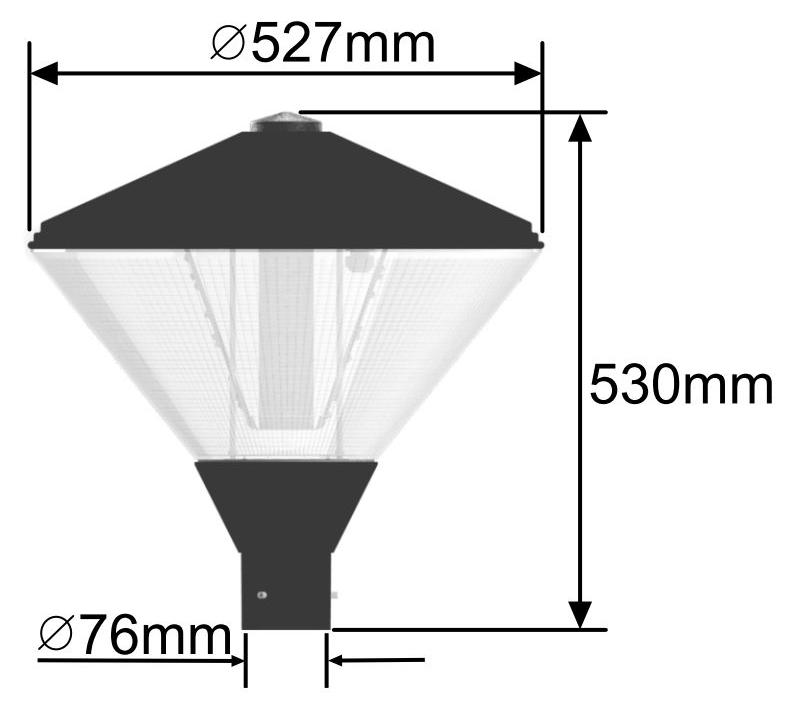 Trafalgar LED Amenity Light Dimensions