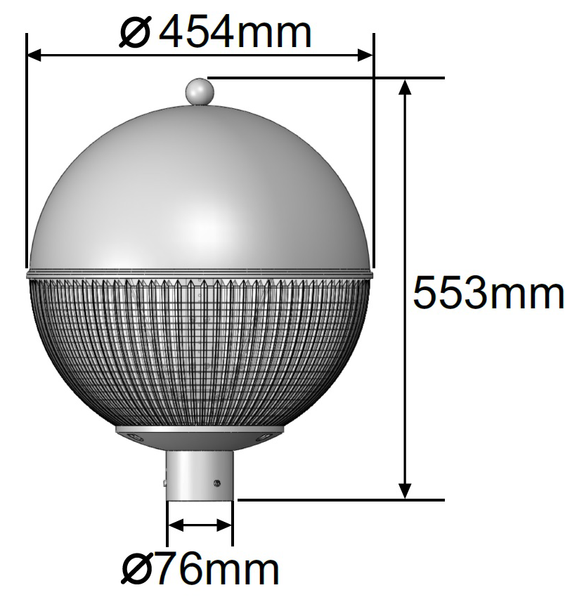 Warrior LED Amenity Light Dimensions