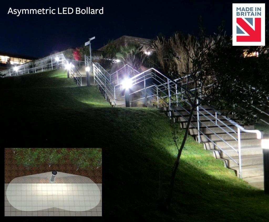 Asymmetric-LED-Bollard-2700K-Bat-Friendly
